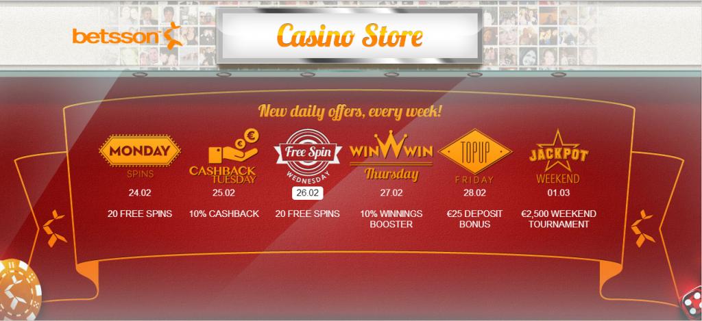 Betsson Casino Offers